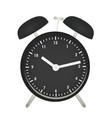 black alarm clock vector image