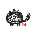 black cat for sale friday vector image