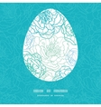blue line art flowers Easter egg vector image