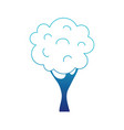 blue silhouette nature tree with trunk and branch vector image vector image
