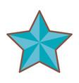 blue star funny comic cartoon decoration icon vector image vector image
