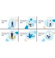 business decision making banner set - cartoon vector image vector image