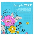 Card with flowers peas vector image vector image