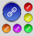 Chain Icon sign Round symbol on bright colourful vector image