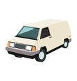 commercial van icon vector image