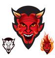 diablo head logo vector image