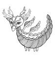 fantasy cartoon dragon coloring page for kids vector image