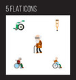 flat icon handicapped set of equipment