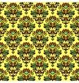 Flower pattern damask summer vector image vector image