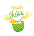Fresh Pineapple Juice vector image vector image
