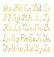 gold brushed latin alphabet vector image