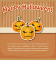 happy halloween greeting light poster vector image vector image