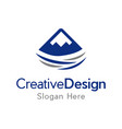 high mountain creative business logo vector image vector image