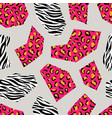 leopard and zebra seamless geometric pattern vector image vector image