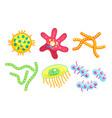 little dangerous bacteria for poster vector image vector image