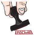 Lupam pecat Poland vector image