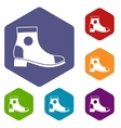 Men boot icons set vector image vector image
