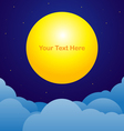 Night sky background with moon text space vector image vector image