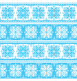Nordic seamless christmas blue pattern vector image vector image