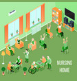 nursing home care interior isometric vector image vector image