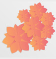 paper flower origami3 vector image vector image