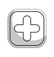 pluss button symbol isolated icon vector image vector image
