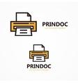 printer logo or icon vector image