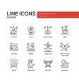 Russian symbols - flat design line icons set vector image