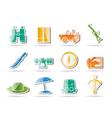 safari and holiday icons vector image vector image