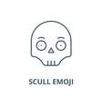 scull emoji line icon linear concept vector image vector image