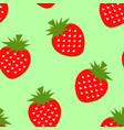seamless strawberry geometric pattern vector image vector image