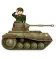 soldier on a tank vector image