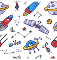 space seamless pattern print design doodle design vector image vector image