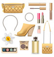spring female accessories set 6 vector image