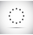 Stars of the European Union simple icons vector image