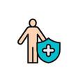 strong immune system healthy person flat color vector image