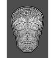 sugar skull vector image vector image