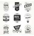 Thank You Monochrome Isolated Signs vector image vector image