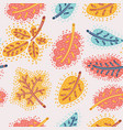the autumn background of falling leaves vector image vector image