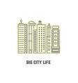 thin line skyscrapers icon vector image vector image