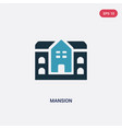 two color mansion icon from real estate concept vector image