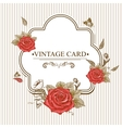 Vintage Floral Card with Roses and Butterflies vector image vector image