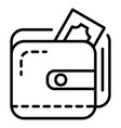 wallet money icon outline style vector image