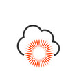 weather forecast icon seasons clouds label cloudy vector image