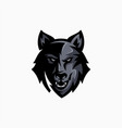 wolf esport gaming mascot logo template vector image vector image