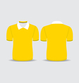yellow polo t shirt vector image vector image