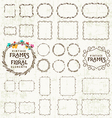 Frame and Label Collection on Grungy Background vector image
