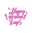 Happy Valentines Day Pink lettering background vector image