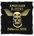 symbol for the biker club vector image