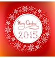 Christmas round frame with Congratulation Text and vector image